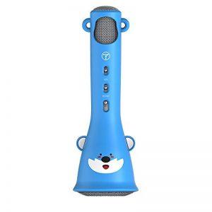 TOSING X3 Karaoke Microphone pour enfants Microphone sans fil Chant Machine meilleur cadeau pour les garçons et les filles d'anniversaire 2018-Kids Karaoke Machines (Bleu) de la marque TOSING image 0 produit