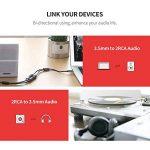 UGREEN Audio Câble RCA Jack Adaptateur 3.5mm Mâle vers 2 RCA Femelle Stéréo pour Téléphone Platine vinyle Enceinte Chaine HiFi Amplificateur Autoradio Plaqué Or, 20cm de la marque UGREEN image 3 produit