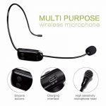 UHF micro sans fil Casque d'écoute portable avec transmetteur sans fil stable pour amplificateur de voix, PC, haut-parleur, compatible avec n'importe quel périphérique audio AUX de la marque SHIDU image 1 produit