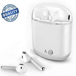 Véritable oreillette Bluetooth sans fil,mini-oreillettes sans fil avec microphone écouteurs intra-auriculaires à réduction de bruit stéréo avec chargeur pour iPhone,iPad,Samsung,PC de la marque ZLing image 0 produit