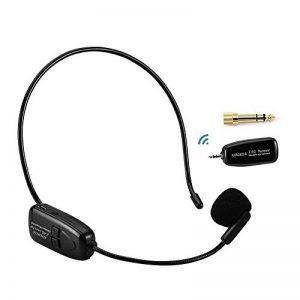 XIAOKOA Microphone sans fil 2.4G, transmission sans fil stable de 40m, casque et ordinateur de poche 2 en 1, pour amplificateur de voix de la marque XIAOKOA image 0 produit