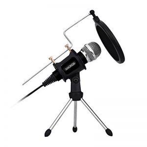 XIAOKOA PC Microphones à condensateur, jeux de microphones pour téléphone, inclus microphone de bureau Stand avec filtre acoustique double couche pour enregistrement, podcasting de la marque XIAOKOA image 0 produit