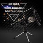 XIAOKOA PC Microphones à condensateur, jeux de microphones pour téléphone, inclus microphone de bureau Stand avec filtre acoustique double couche pour enregistrement, podcasting de la marque XIAOKOA image 1 produit