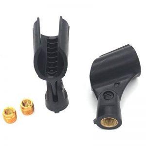 Zramo® - 2 Pinces pour microphone portables sans fil Shure PgX24/slx24/sm58, support de fixation en plastique fileté de la marque Zramo image 0 produit